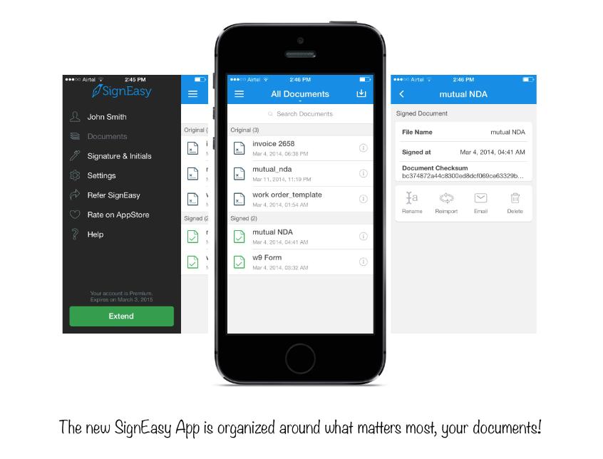 SignEasy iOS 7 overhaul