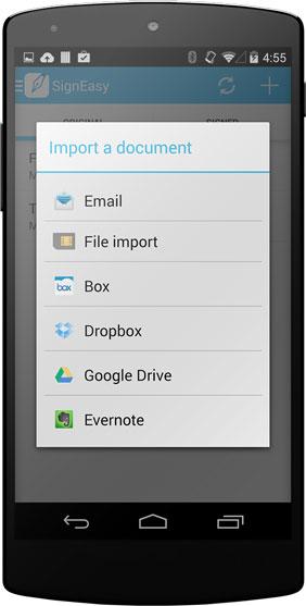 Import documents via SD Card