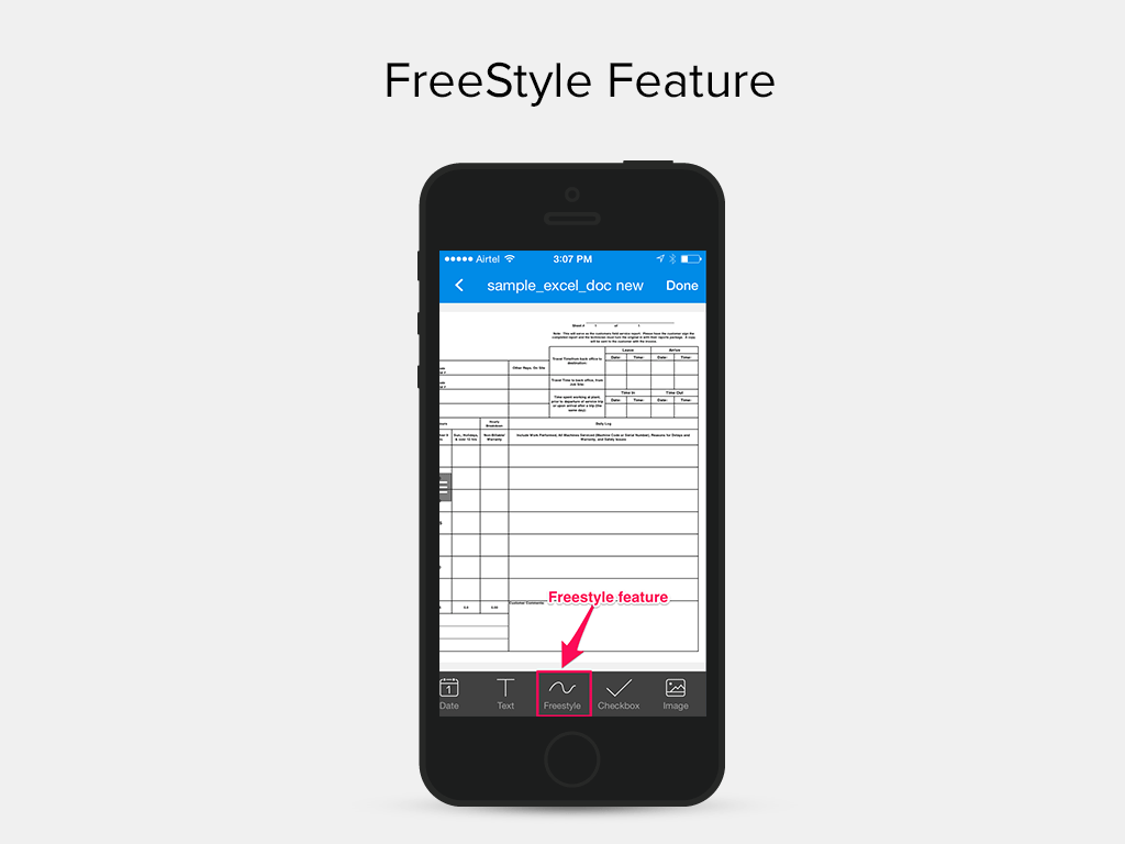 SignEasy App- Freestyle Feature iOS