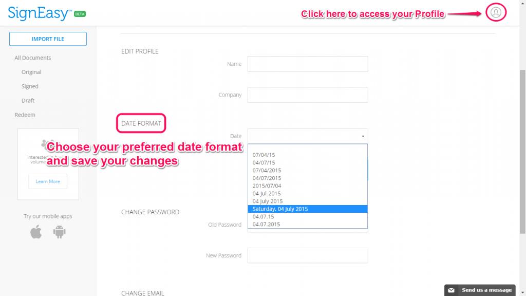 2 Profile Date Format