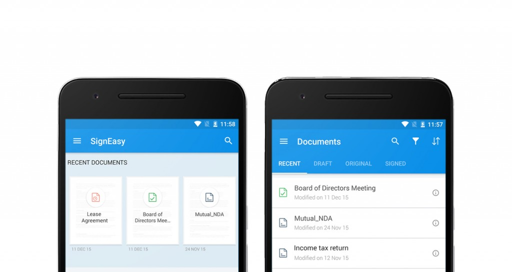 a redesigned signeasy for android - signeasy blog