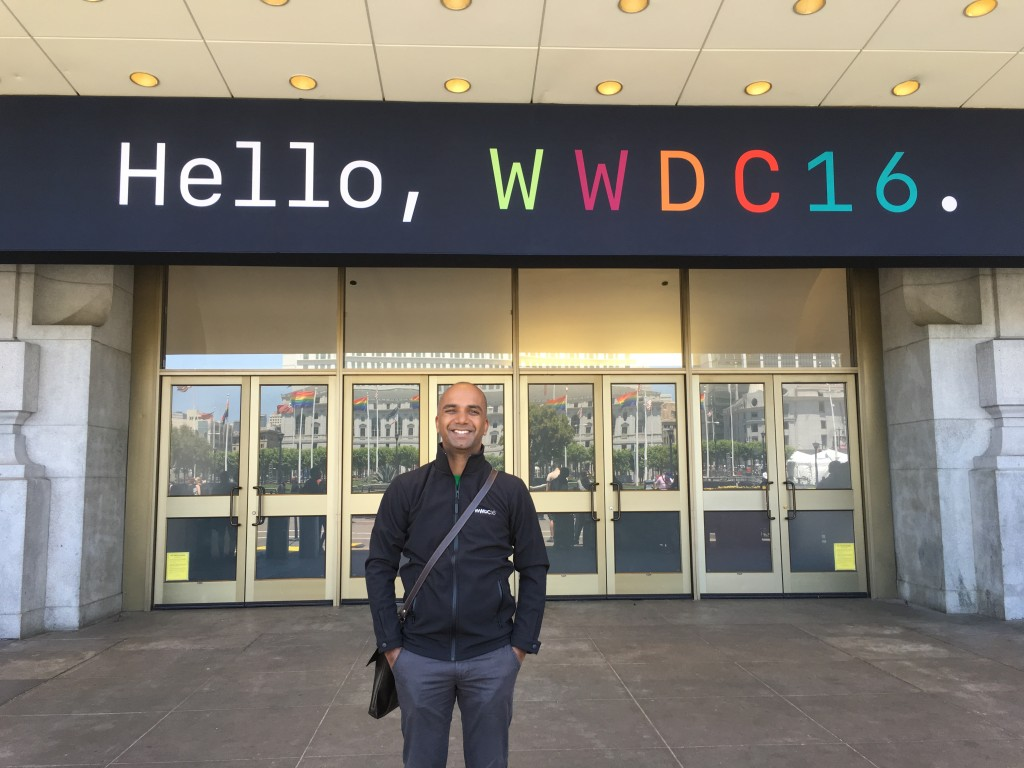 SignEasy founder and CEO Sunil Patro at WWDC 2016 San Francisco